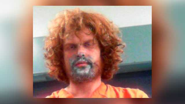 In this photo provided by the West Virginia Regional Jail and Correctional Facility Authority shows Glenn Allen Casdorph, who was arrested Friday, Sept. 14, 2018. Police say he beat his mother with a spatula after huffing paint and is facing a malicious wounding charge.
