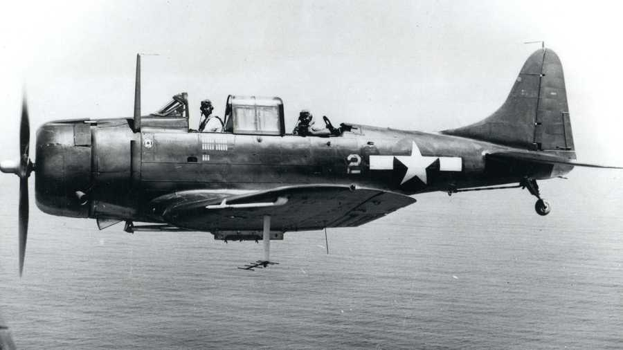 Project Recover, a nonprofit that searches for those missing in action since World War II, has found three of the missing aircraft which include two SBD-5 Dauntless dive bombers and one TBM/F-1 Avenger torpedo bomber, according to the University of Delaware. A SBD-5 Dauntless aircraft is seen here in flight.