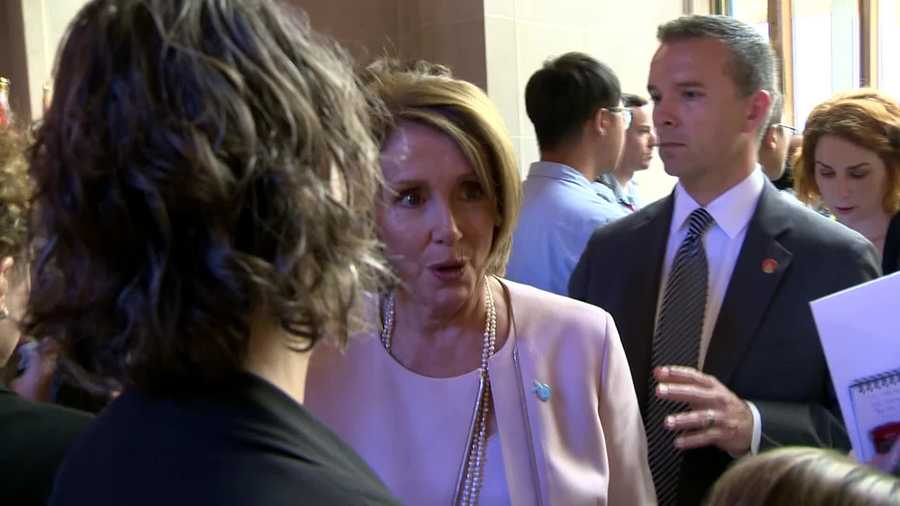 "House Democratic Leader Nancy Pelosi spoke with KCRA 3's David Bienick on Friday about SCOTUS' same-sex marriage decision, and said ""we're just thrilled"" with the news."