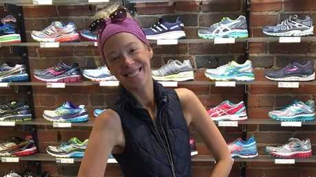 Adrianne Haslet-Davis, the professional ballroom dancer who lost her foot in the Boston Marathon, is running this year's race.