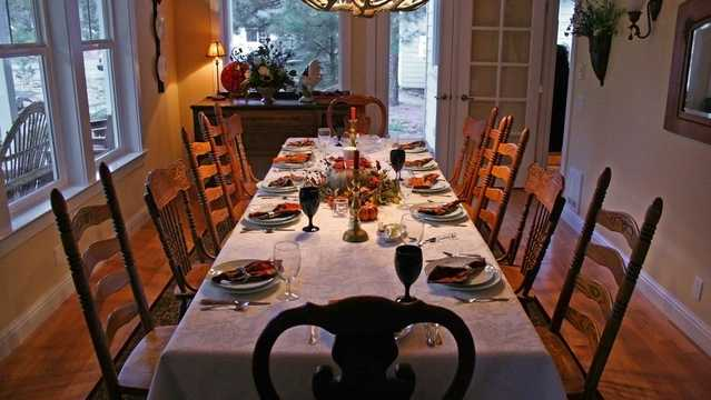 Thanksgiving table generic