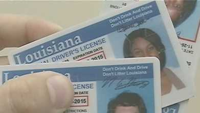 Louisiana Drivers License generic