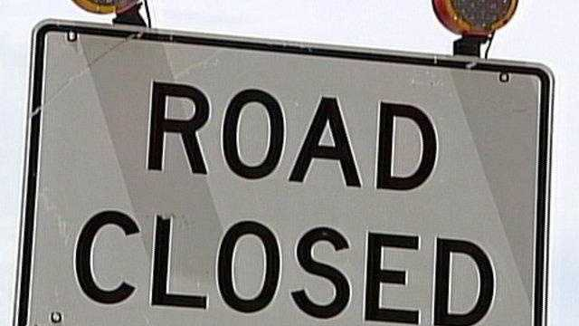 Part of road closed in Fryeburg due to flooding
