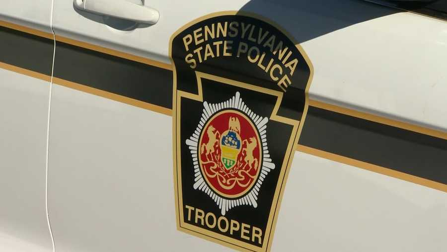A Pennsylvania state trooper's car
