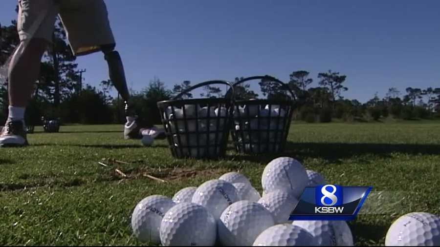 Two wounded warriors get customized golf clubs from Calloway