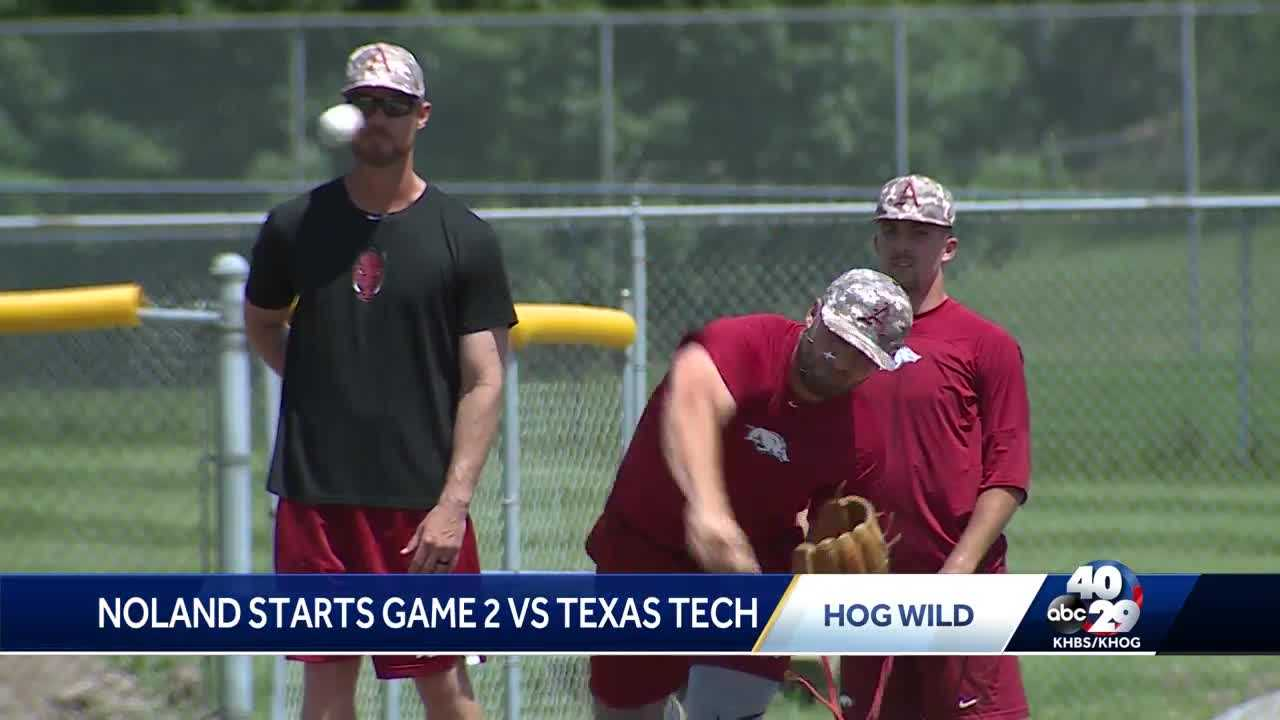 Diamond Hogs set for Monday matchup with Texas Tech, Connor Noland gets start thumbnail