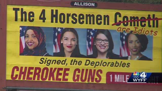 North Carolina gun shop billboard targets 4 congresswomen