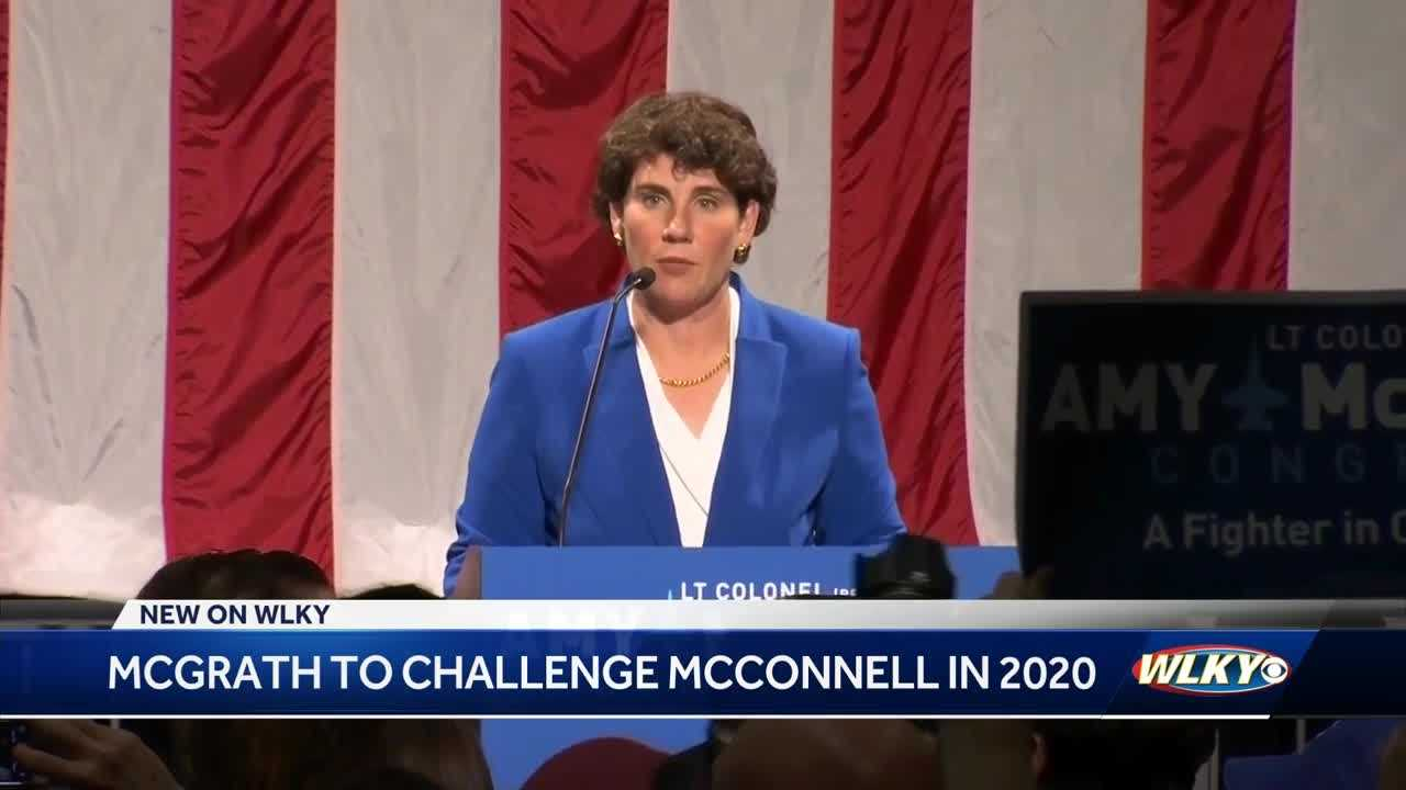 Former Marine Amy McGrath announces bid to take on Sen. Mitch McConnell thumbnail