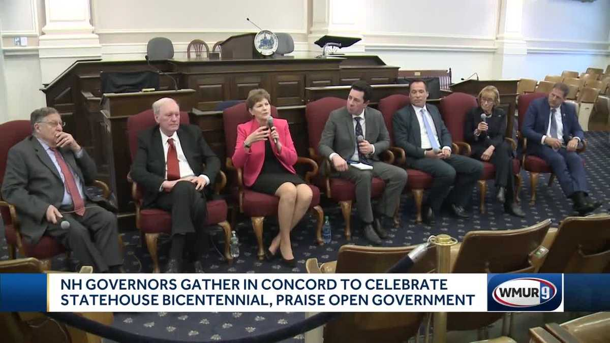 6 NH governors commemorate bicentennial of Statehouse