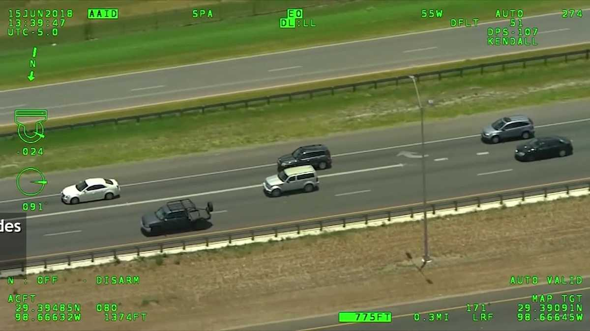 Woman with baby leads police on high-speed chase