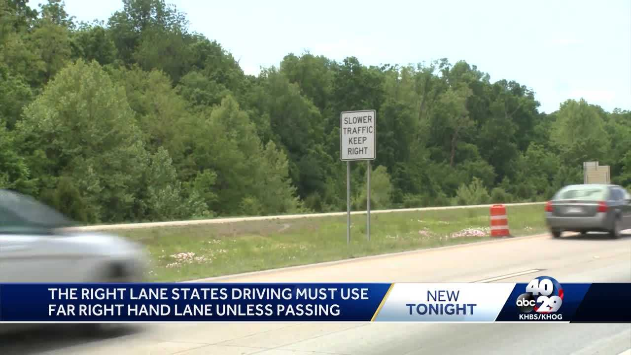 Arkansas State Police crack down on right lane traffic law thumbnail