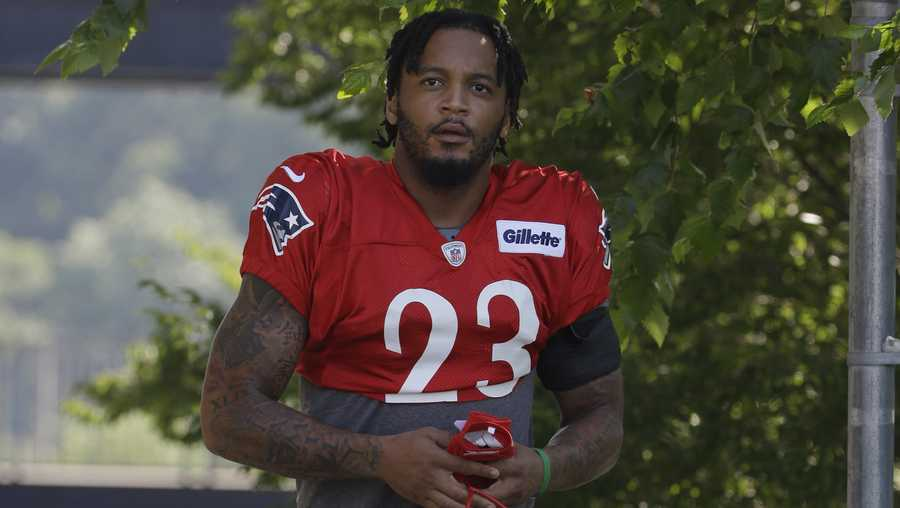 Patrick Chung in Patriots practice