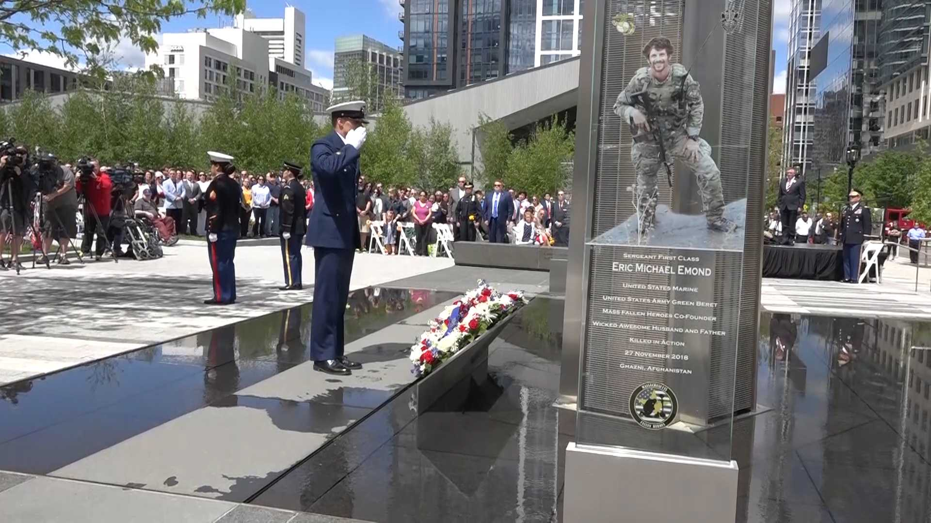 Fallen soldier honored at memorial he co-founded