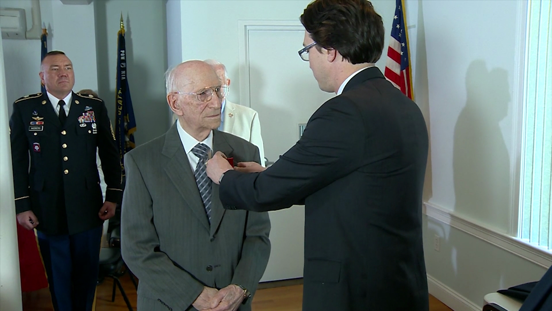 94-year-old Massachusetts WWII veteran honored by French government