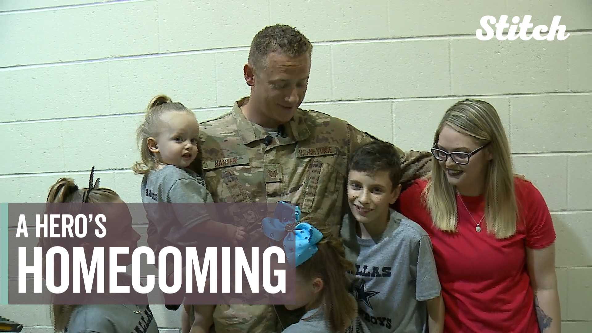 This military dad surprising his kids at school is one of the best things you'll see today thumbnail